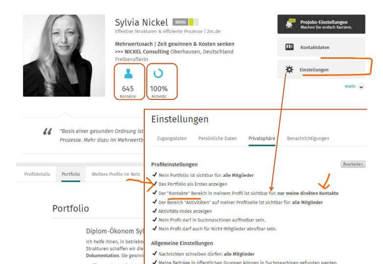 XING-Einstellungen (c) Sylvia Nickel | 2nc.de